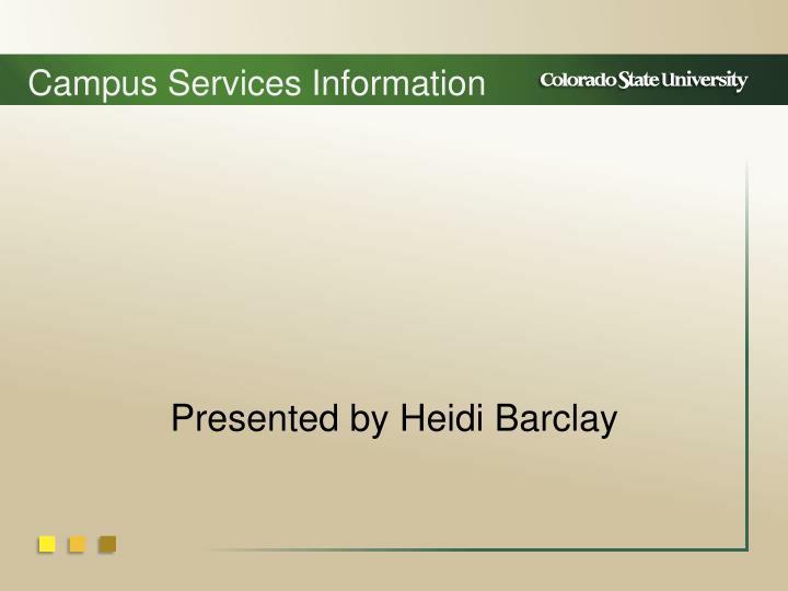 Campus Service