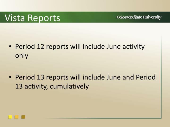 Vista Reports