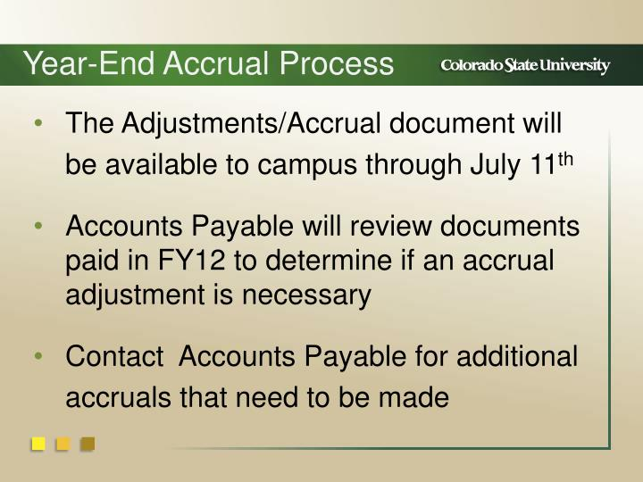 Year-End Accrual Process