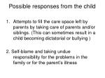 possible responses from the child