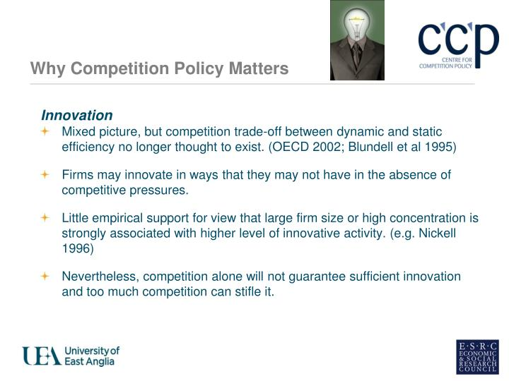 Why Competition Policy Matters