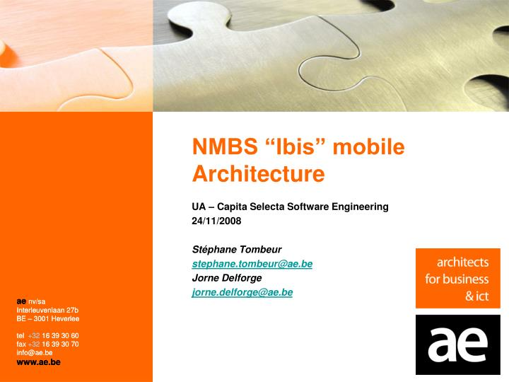 Nmbs ibis mobile architecture