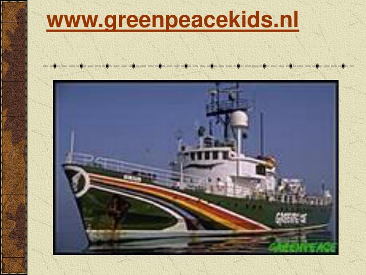 www.greenpeacekids.nl