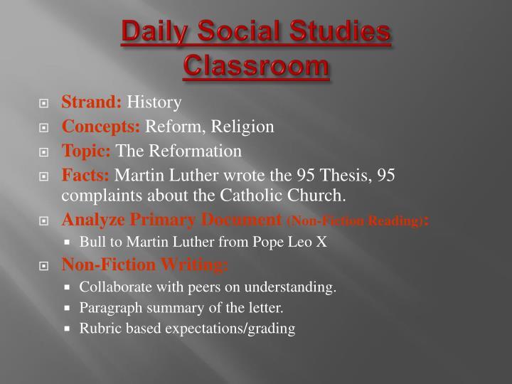 Daily Social Studies
