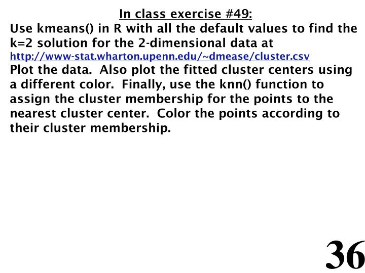 In class exercise #49: