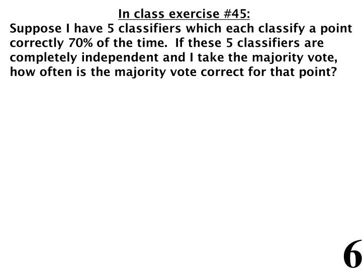 In class exercise #45: