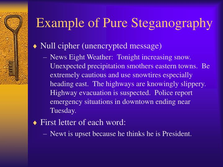 Example of Pure Steganography