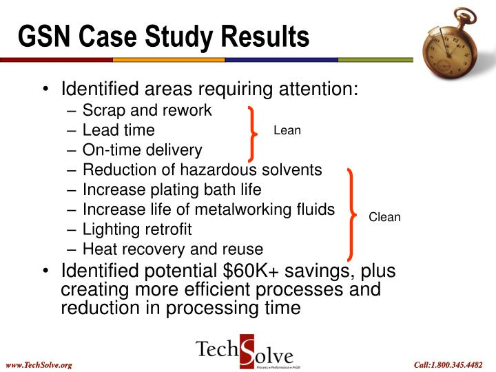 GSN Case Study Results