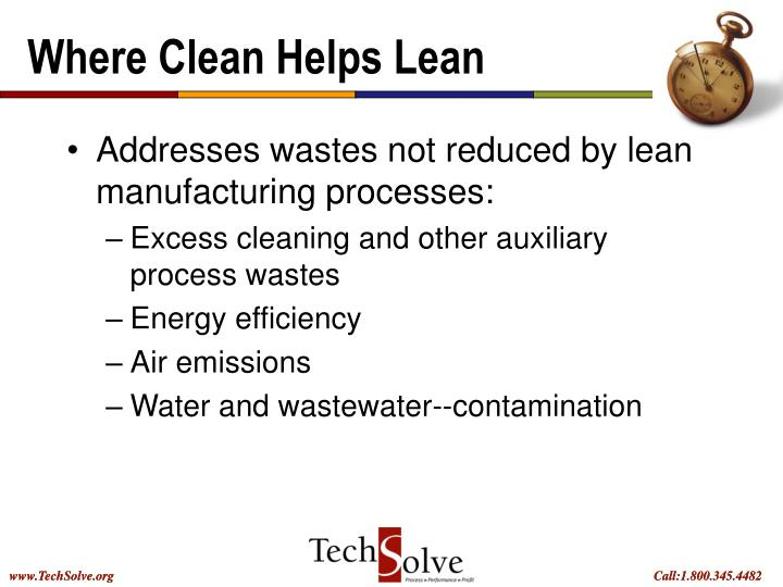Where Clean Helps Lean
