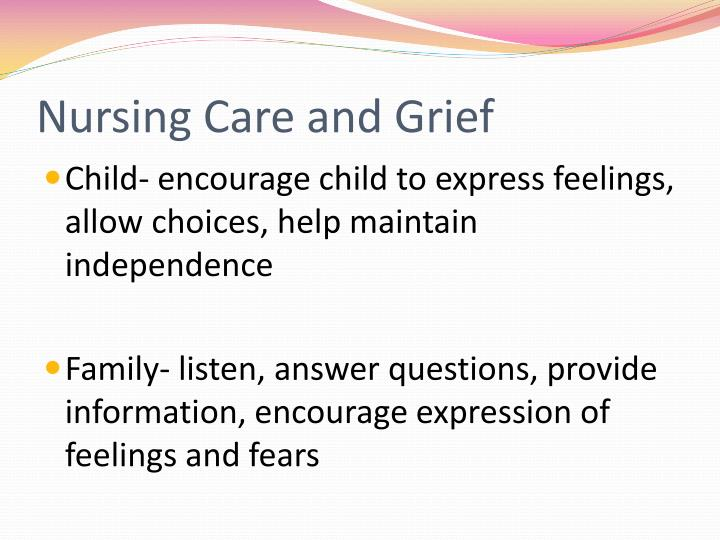 Nursing Care and Grief
