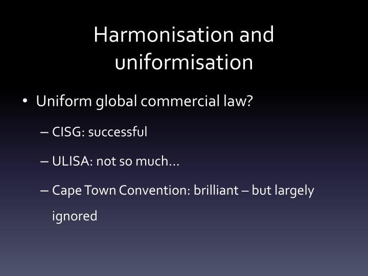 Harmonisation and