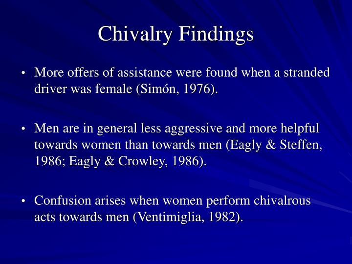 Chivalry Findings
