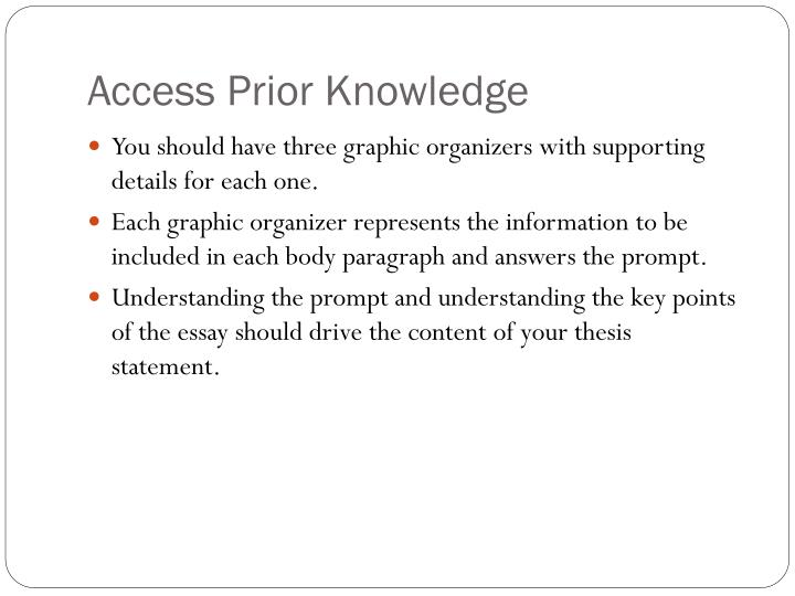 Access Prior Knowledge