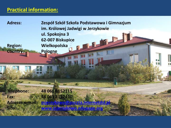 Practical information: