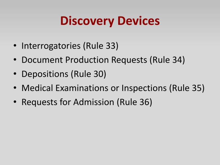 Discovery Devices