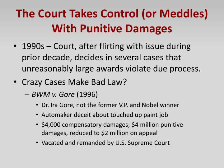 The Court Takes Control (or Meddles) With Punitive Damages