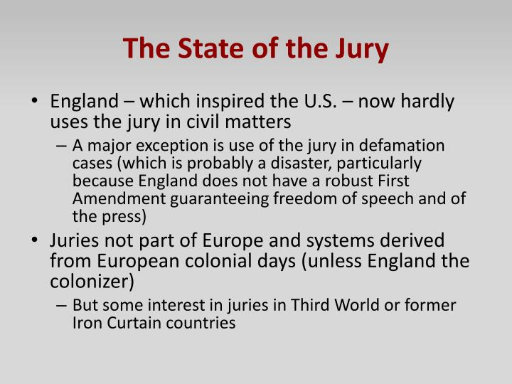 The State of the Jury