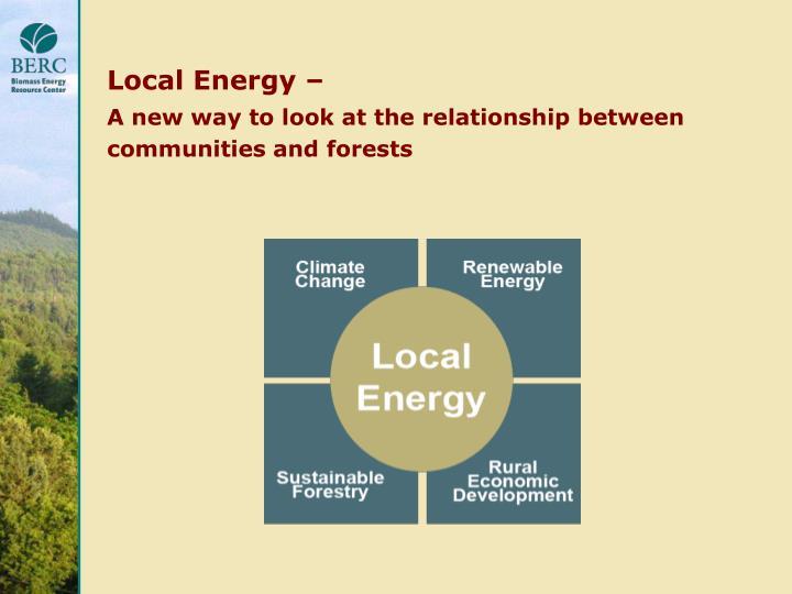 Local Energy –