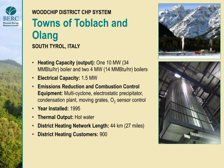 WOODCHIP DISTRICT CHP SYSTEM