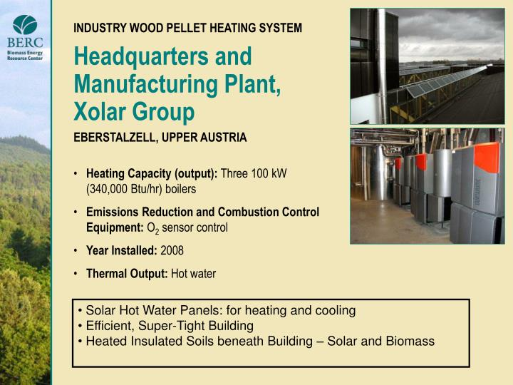 INDUSTRY WOOD PELLET HEATING SYSTEM