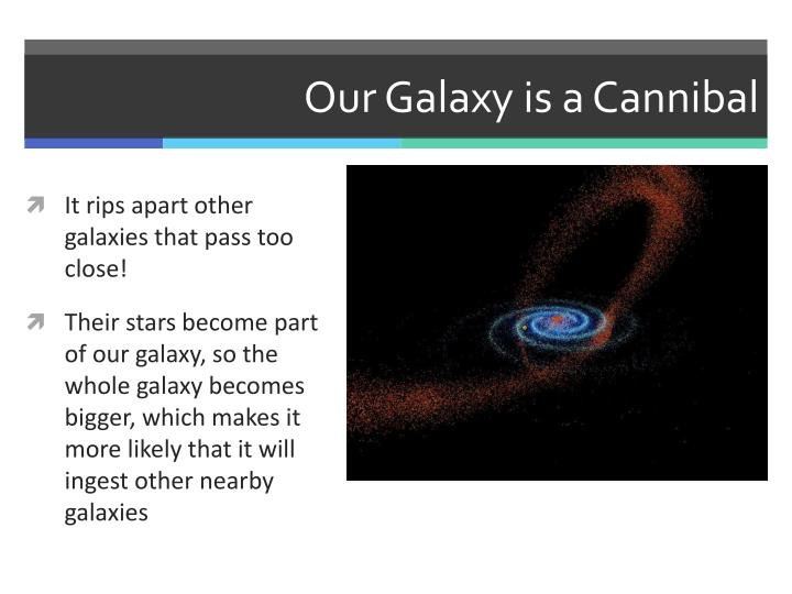 Our Galaxy is a Cannibal