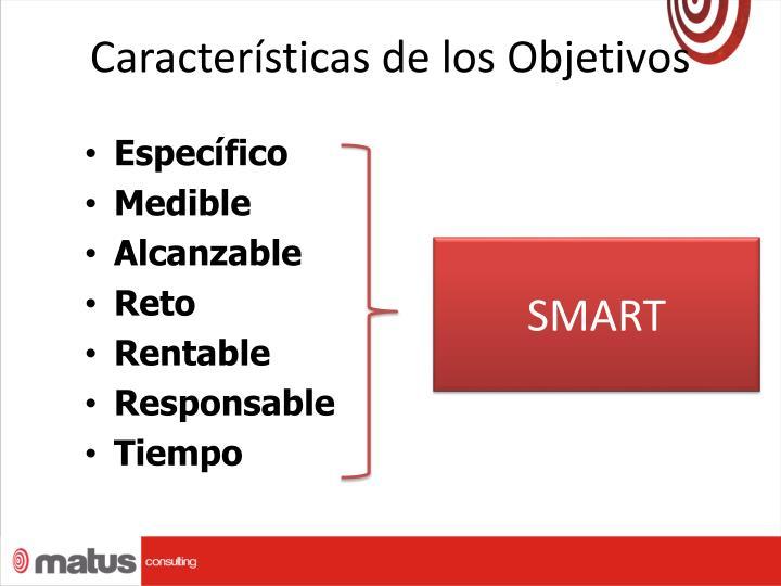 Características de los Objetivos