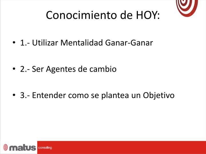 Conocimiento de HOY: