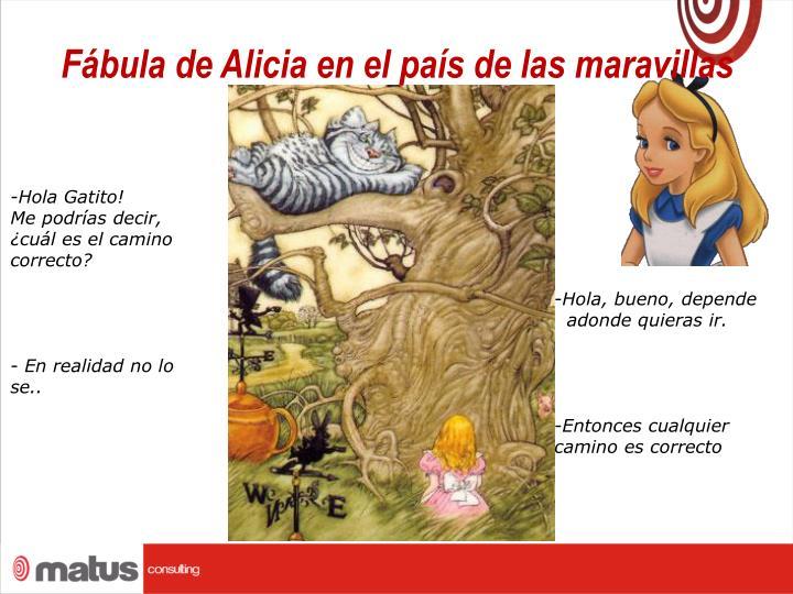 Fábula de Alicia en el país de las maravillas