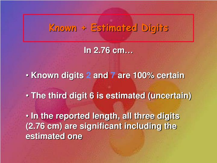 Known + Estimated Digits