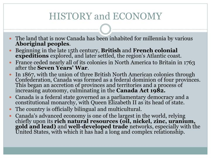 HISTORY and ECONOMY