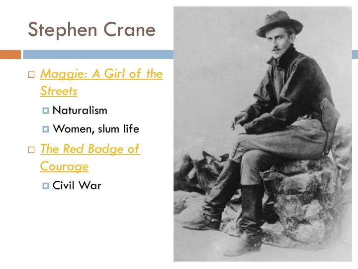 the life and works of stephen crane Determinism, objectivity, and pessimism in the open boat in stephen crane's short story the open boat, the american literary school of naturalism is used and three of the eight features.