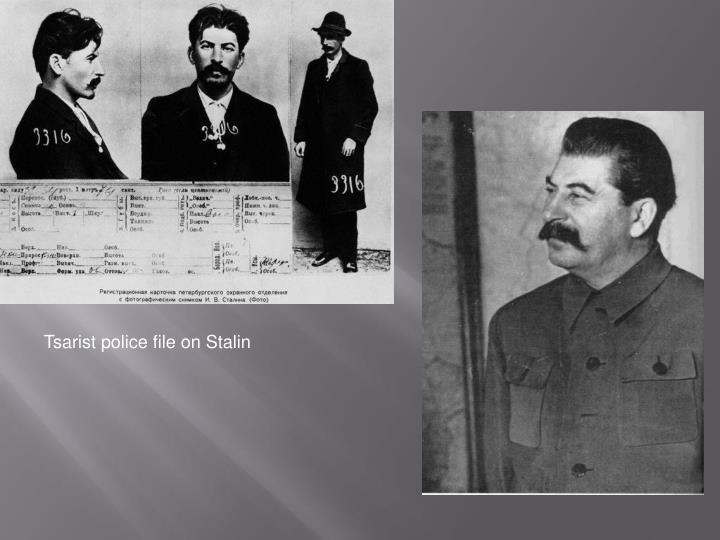 Tsarist police file on Stalin