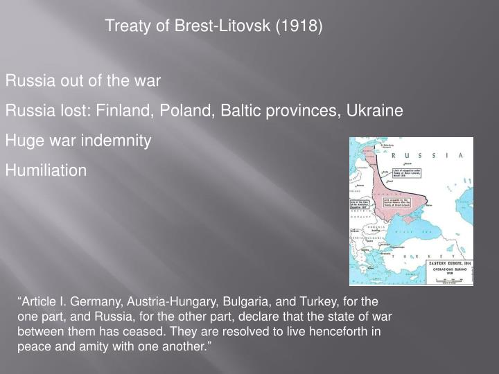 Treaty of Brest-Litovsk (1918)