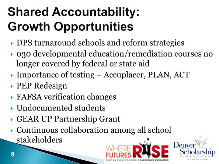 Shared Accountability: