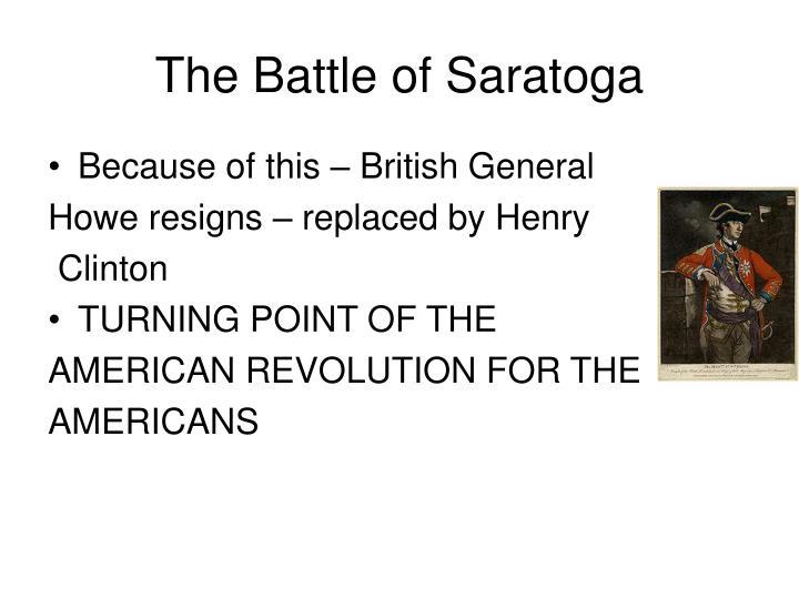 The Battle of Saratoga