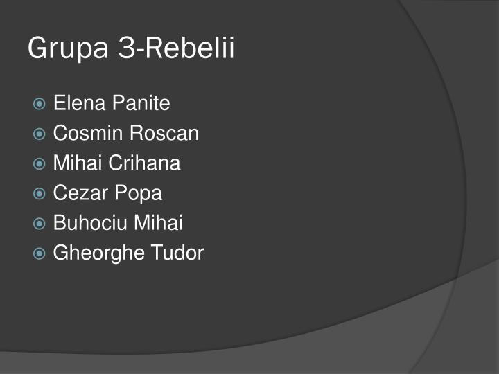 Grupa 3-Rebelii