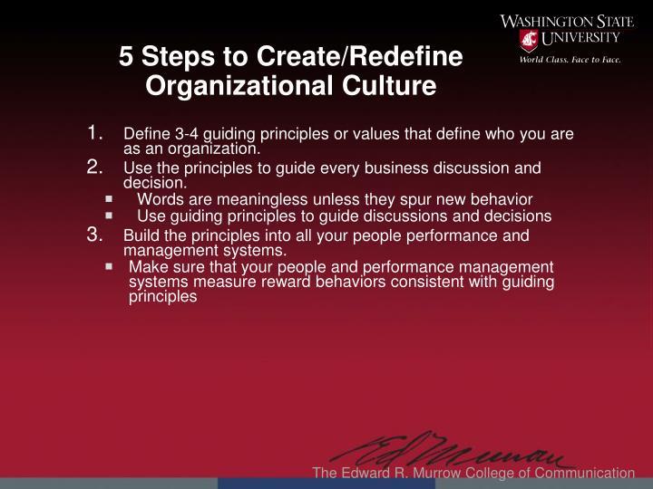 5 Steps to Create/Redefine Organizational Culture