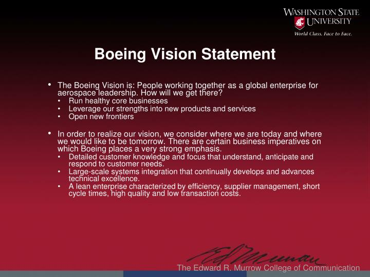 Boeing Vision Statement