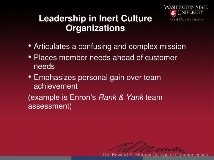 Leadership in Inert C