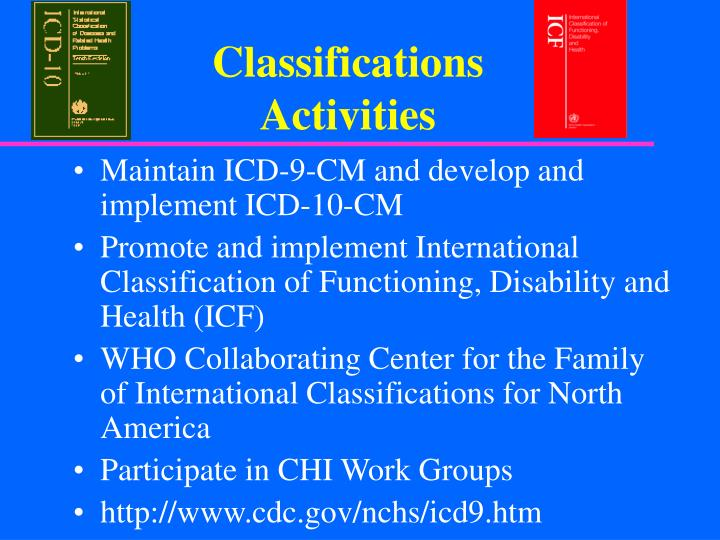 Classifications Activities
