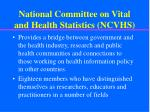 national committee on vital and health statistics ncvhs1