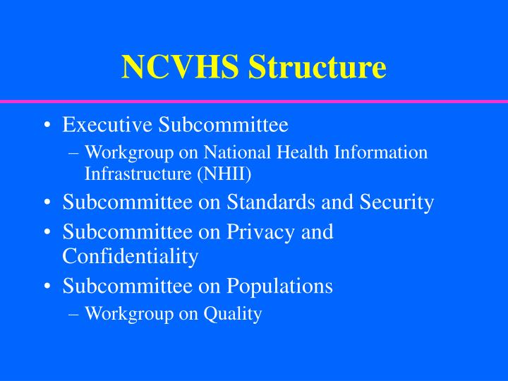 NCVHS Structure