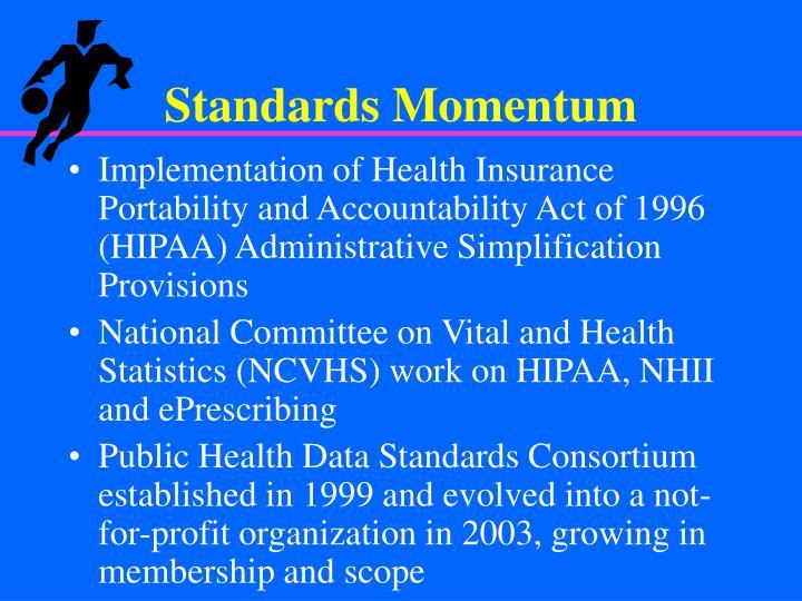 Standards Momentum