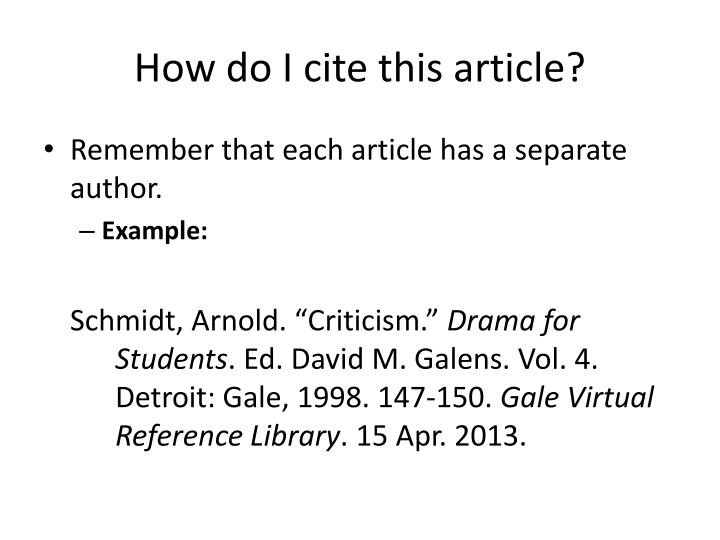 How to cite essays by literary critics