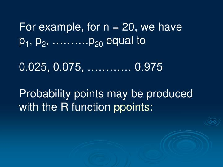 For example, for n = 20, we have