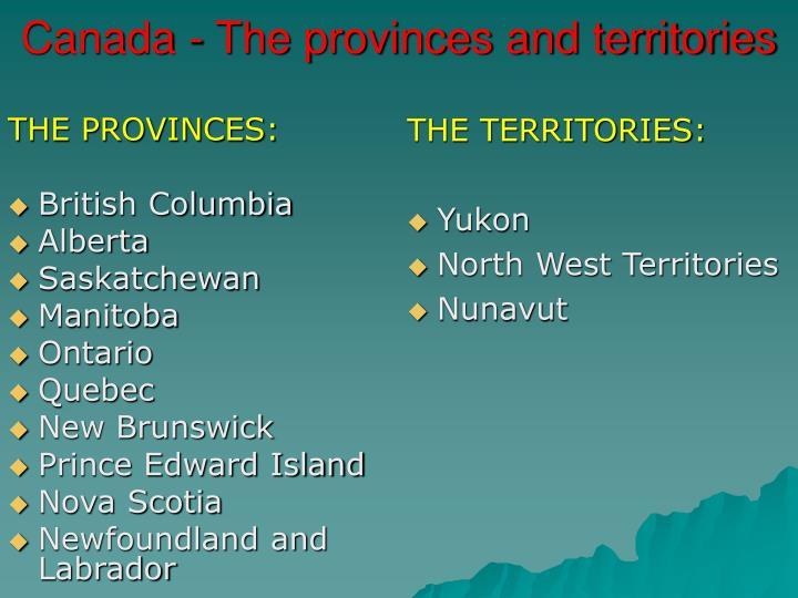 THE PROVINCES: