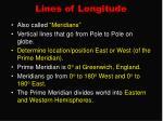 lines of longitude