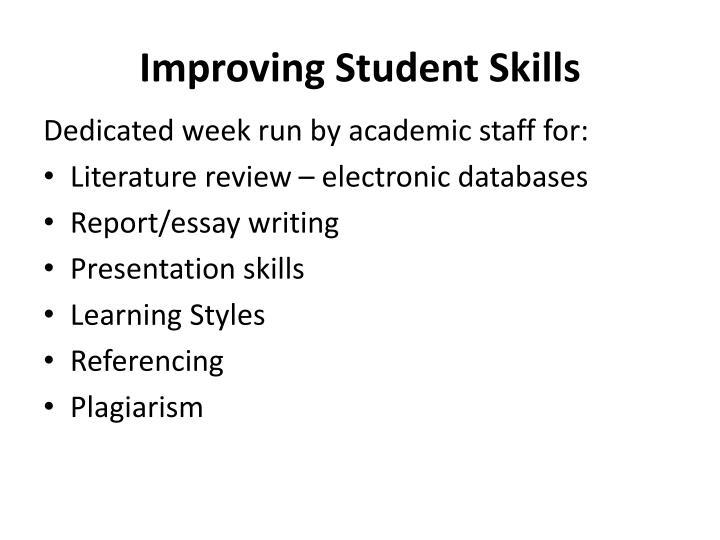 Improving Student Skills