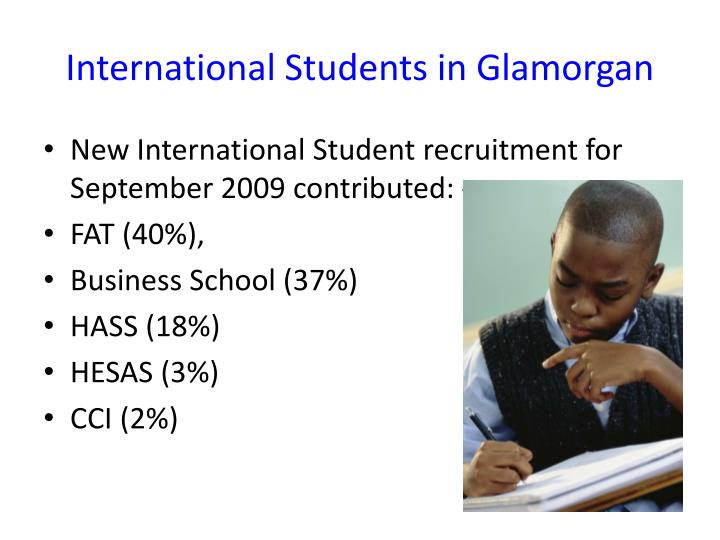 International students in glamorgan