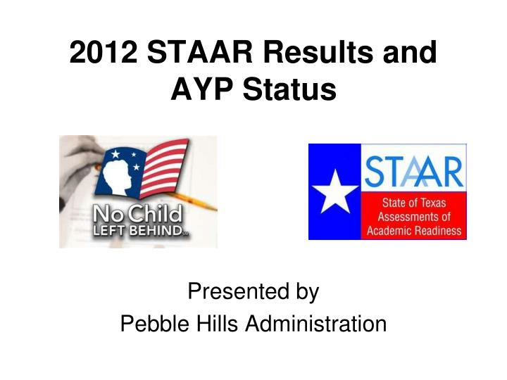 2012 staar results and ayp status